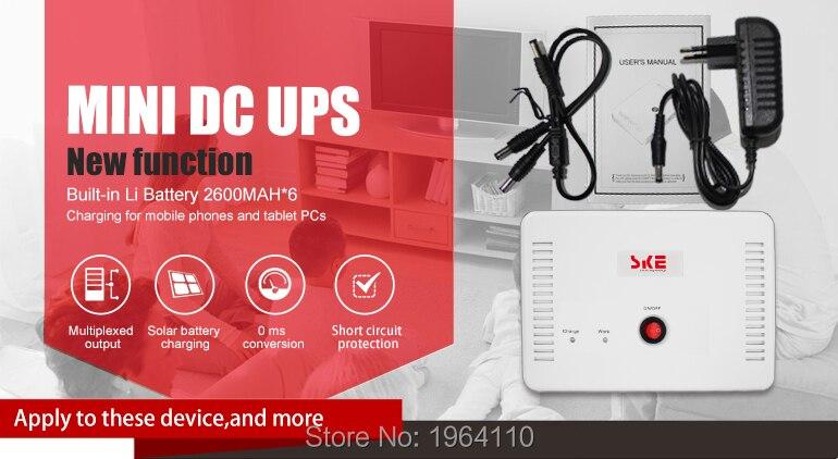 Mini Portable UPS with 5V9V12V15V24VDC Interface & USB Port Max 24W 1A Current Output & 7800mAh Lithium Battery Built-in_7
