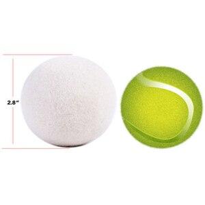 Image 3 - 6X/حزمة الغسيل نظيفة الكرة قابلة لإعادة الاستخدام الطبيعي العضوية الغسيل منعم أقمشة الكرة قسط كرات تجفيف صوف طبيعي دروبشيبينغ