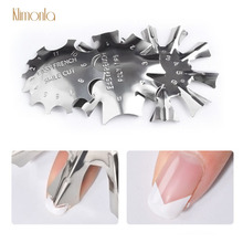 3pcs French Smile Line Trimmer Cutter Nail Model Stainless Steel Art Tips Gel Polish Template Manicure Tools