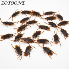 ZOTOONE DIY Halloween Party Decoration Home Accessories 1Pcs Simulation Cockroaches Plastic Solid Animal for April Fools Day G
