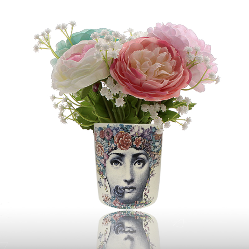 Nordic Fashion Fornasetti Vase Beauty Face Cylindrical