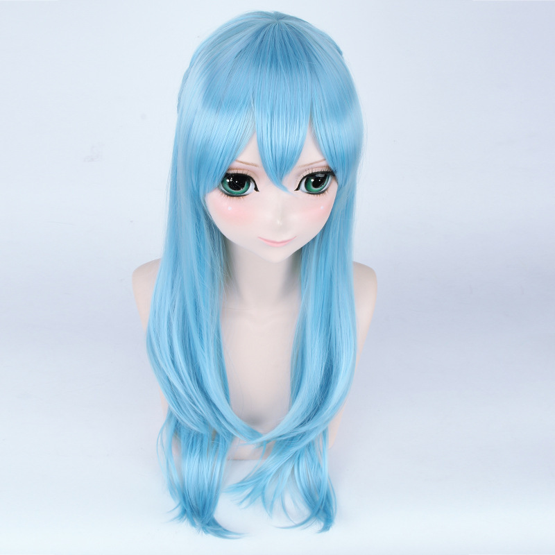 Sword Art Online Yuuki Asuna Water Blue Cosplay Wig Halloween Party Anime Game Hair