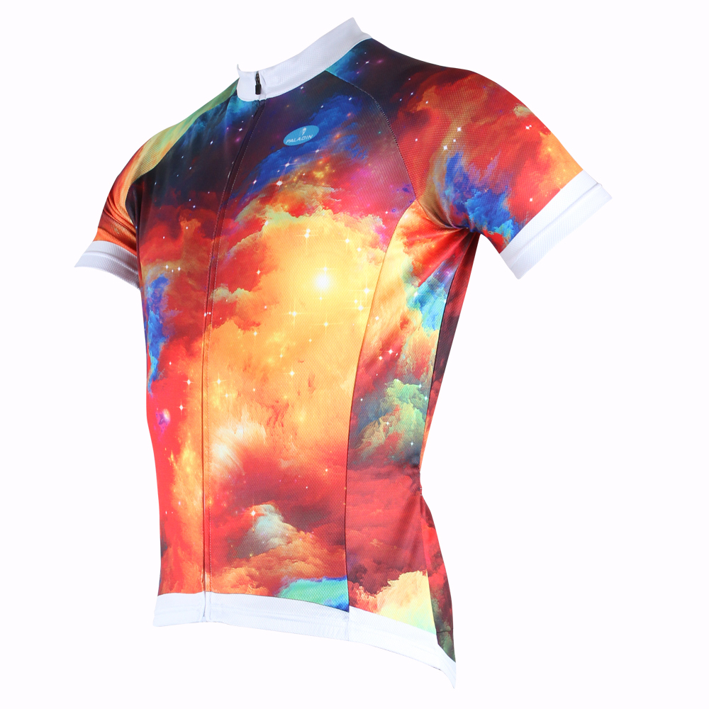ffdb7b73d Free shipping Men Dream Nebula Short Sleeve Cycling Jersey Colorful Bike   Bicycle  Apparel Breathable Polyester Cycling clothing-in Cycling Jerseys from ...