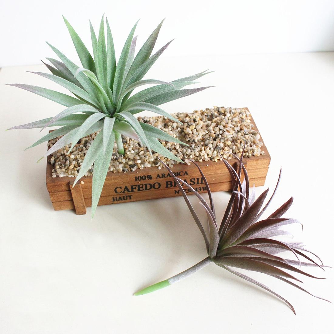 Decorative Green Fake Succulents Plant Mini Artificial Flocking Succulent Plants Landsca ...