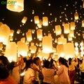 10 шт. Китайский Бумажный Фонарь Sky Фонари Летающий Желая Лампы Kongming Фонарь Шар Свадьба Украшение