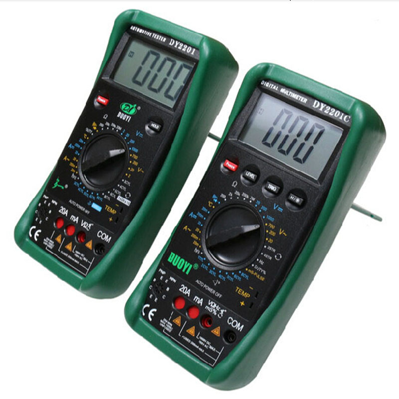 DUOYI DY220C digital multimeter, automotive maintenance, mechanical protection multimeter, the measured temperature.  цены