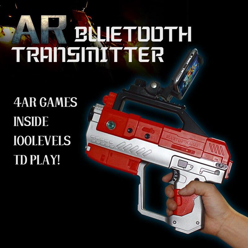 4D AR пистолет с телефона, подставка-держатель Беспроводной <font><b>Bluetooth</b></font> 4.2 DIY AR пистолет Игрушечные лошадки <font><b>VR</b></font> игры для Iphone и Android