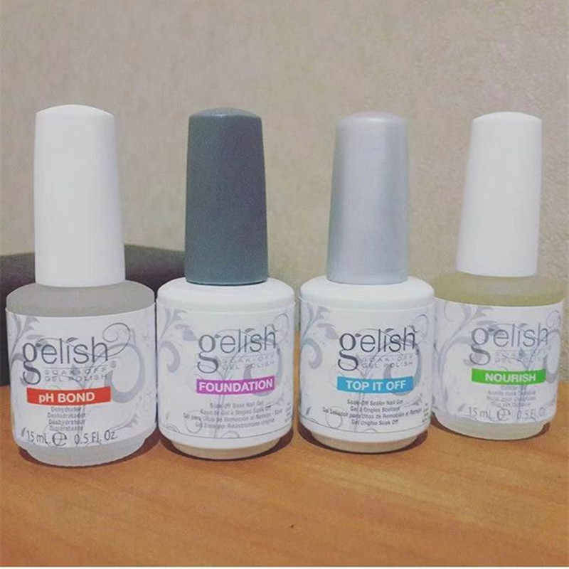 4 pz/set Soak Off Gel Nail Polish: BASE TOP COAT PH BOND OLIO