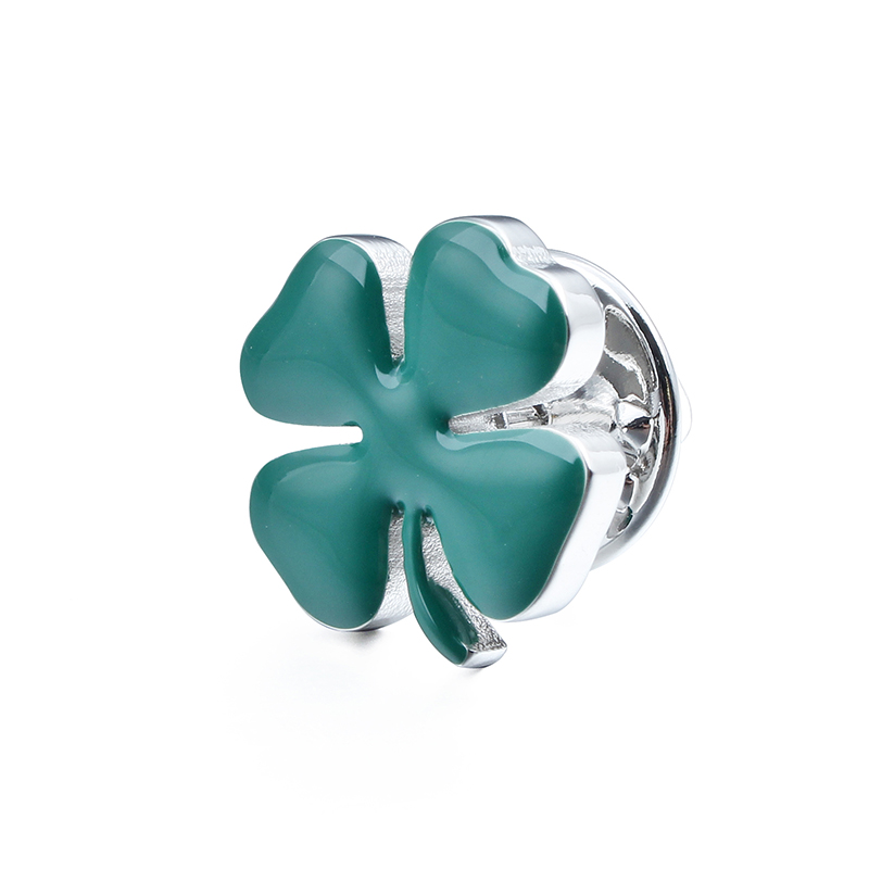 Four Leaves Clutch Brooch Pin Romantic Lucky Clover Jewelry Lapel Pins Backing Lock Jewelry Accessory