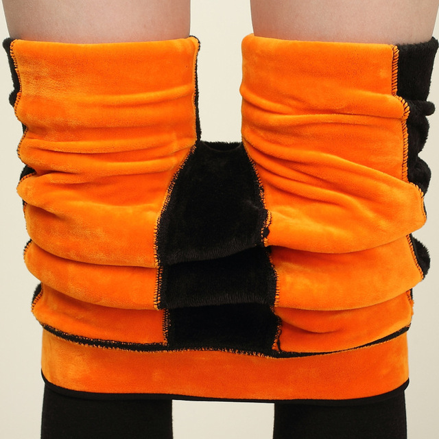Black Warm Girl pants Faux Velvet Winter Slim leggings Women High waist Plus Size Leggings Knitted Thick Slim fitness Elasticity