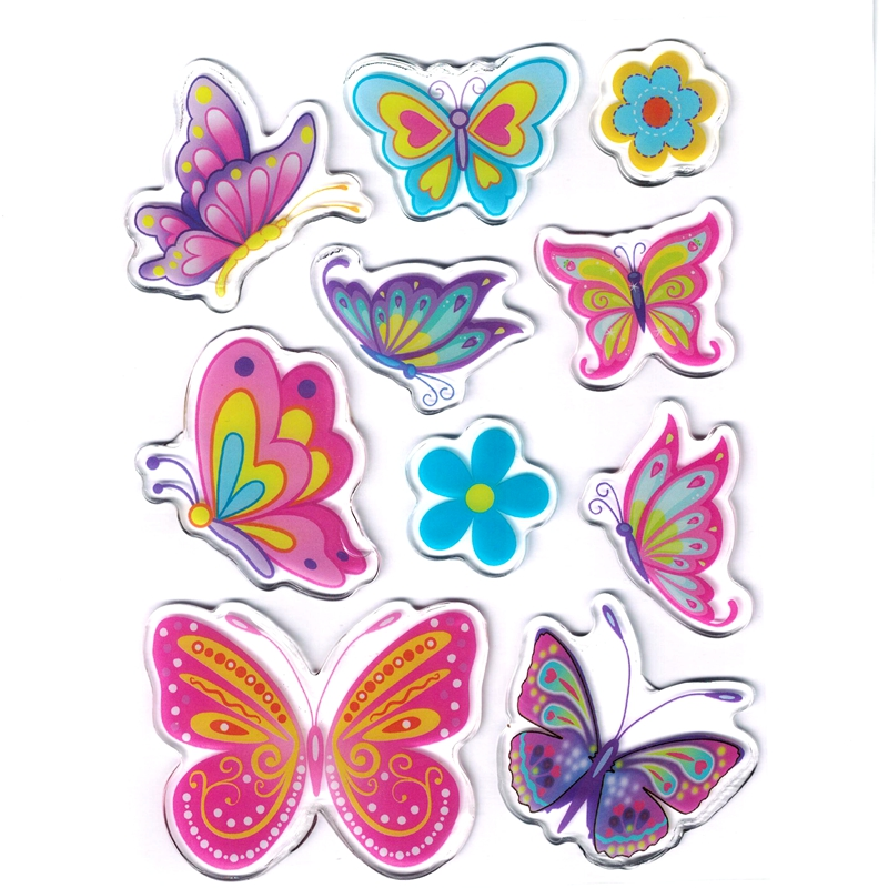 Lovely PVC Crystal Jelly Stickers Decorative Cartoon Soft Stickers DIY Children's Toys Decorate Painting Boys And Girls Reward