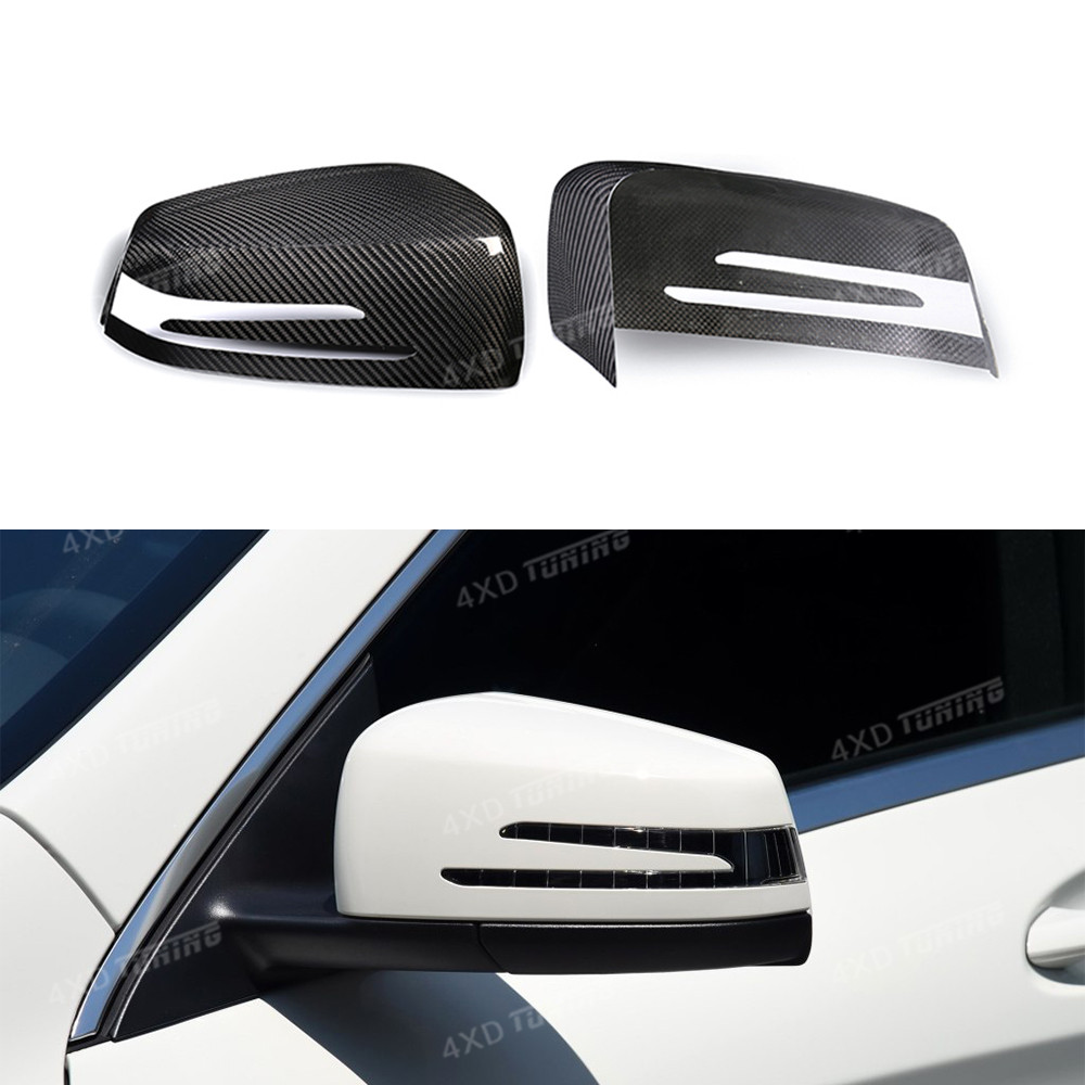 For Mercedes W204 Mirror W176 W212 W117 W218 Carbon Fiber Mirror Cover A B C E S CLA CLS GLK Class full dry carbon mirror cover high quality new driver side airbag cover for glk w204 glk300 glk350 airbag cover dab cover with logo