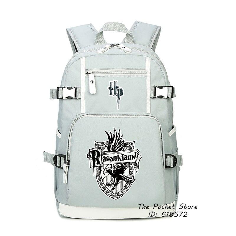 Magique Harri Potter gryffondor Ravenclaw impression voyage sac à dos toile sacs d'école sac à dos pour ordinateur portable femmes rose sac à dos Rugzak