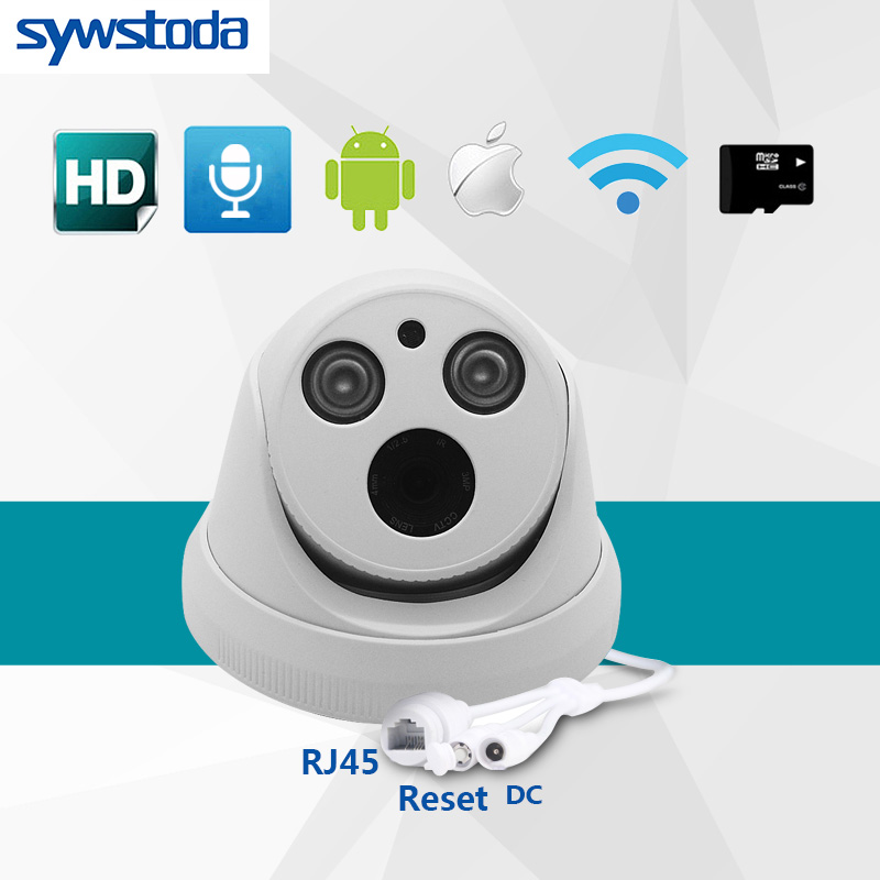Full HD 1080P Security Camera Indoor Dome IP Camera Audio Support SD Card Internal Microphone P2P ONVIF Email Motion Detect full hd ip camera 5mp with sound dome camera ip cam cctv home security cameras with audio indoor cameras onvif p2p