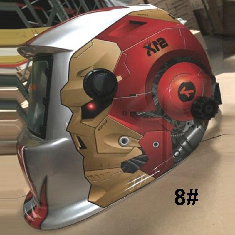adjustable Solar Auto Darkening TIG MIG Welding Mask Helmet Welder Cap Goggles цена