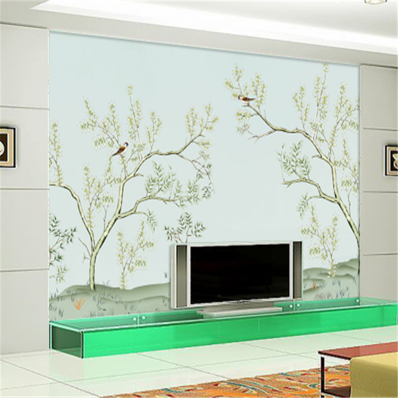 Custom Wallpaper Modern Flowers and Birds Minimalism Waterproof Embossed Non-Woven Bedroom Wall Paper Roll for Living Room the hermitage birds and flowers