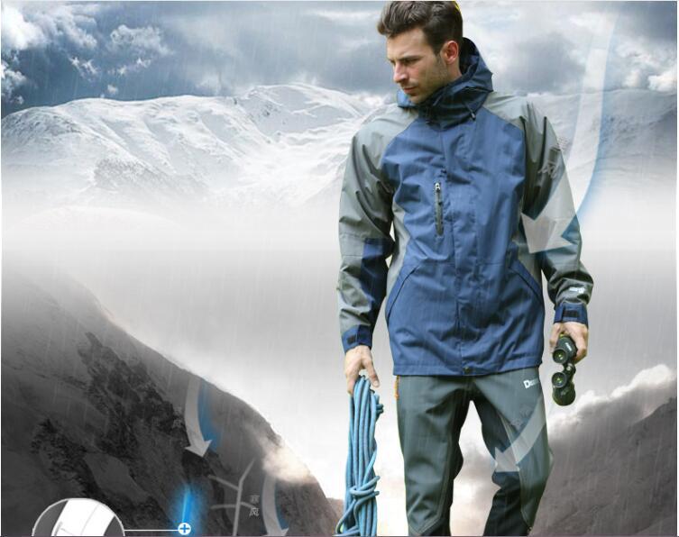 Quick-drying, moisture wicking windproof, waterproof,Outdoor Jackets genuine female models male models windproof waterproof ski цены