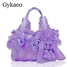 New Handmade Middle-aged Women Bag Ladies Silk Lace Princess Wedding Flower Ladi