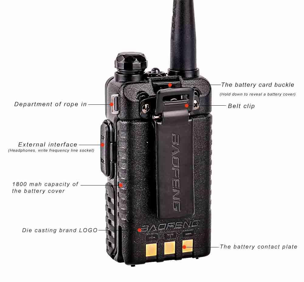 2Pcs BaoFeng UV-5R Walkie Talkie VHFUHF136-174Mhz&400-520Mhz Dual Band Two way radio Baofeng uv 5r Portable Walkie talkie uv5r (13)