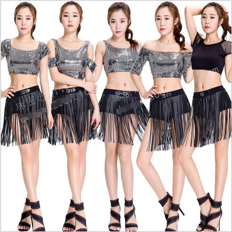 Sexy Girls School Uniform Sequins Cheerleading Cosplay -6757