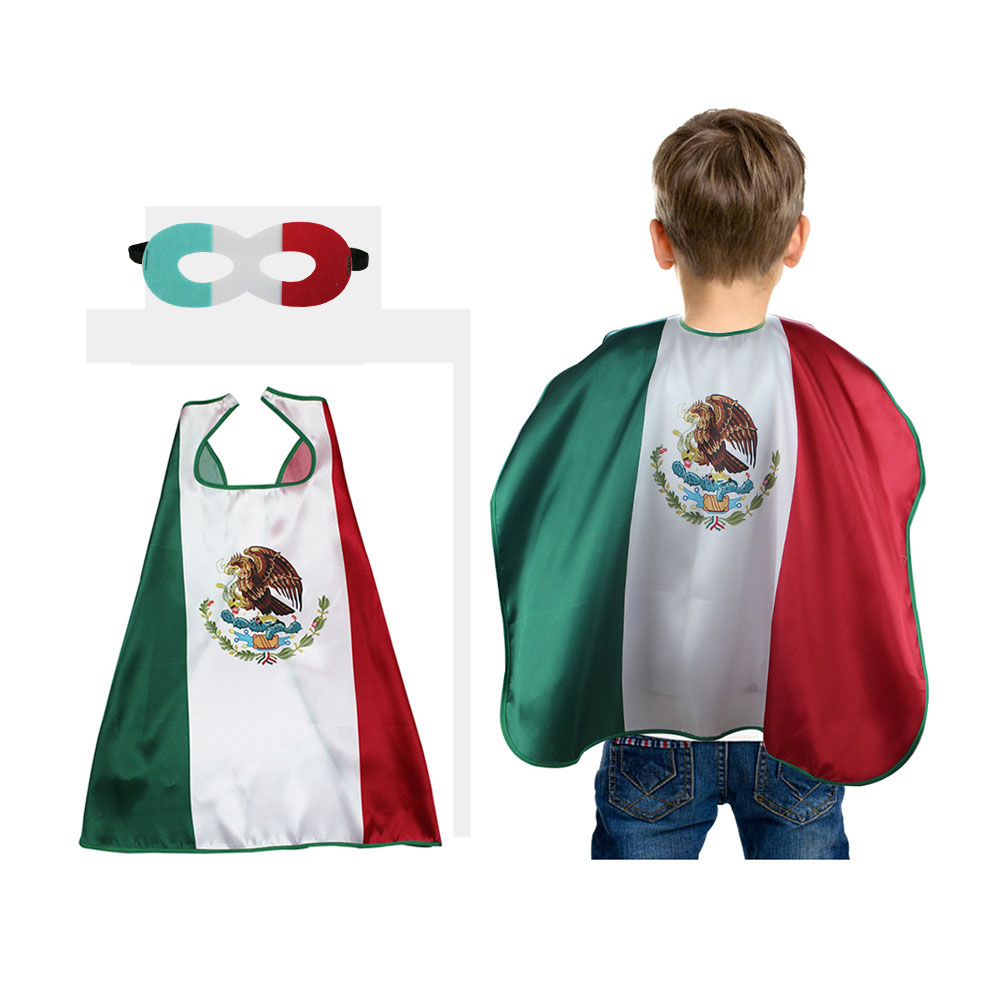 Special 70*70 cm Mexico national flags cosplay cape gifts decorative outfits fancy dress Stripes Outdoor Soft Home Souvenir