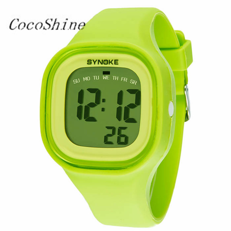 CocoShine A-838 1PC Silicone LED Light Digital Sport Wrist Watch Kid Women Girl Men Boy wholesale Free shipping