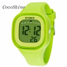 CocoShine A-838 1 UNID de Silicona LED Digital Light Sport Reloj de Pulsera Mujeres Joven Muchacha Muchacho de Los Hombres al por mayor