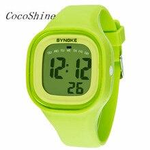 CocoShine A-838  1PC Silicone LED Light Digital Sport Wrist Watch Kid Women Girl Men Boy wholesale