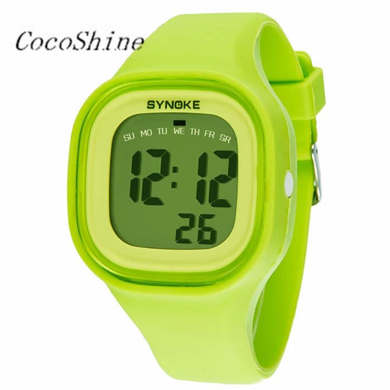 CocoShine A-838 1PC Silicone LED Light Digital Sport Wrist Watch Kid Women Girl Men Boy wholesale Free shipping
