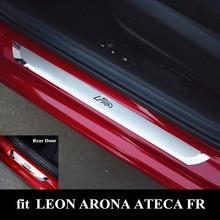 FR Aço Inoxidável do Peitoril Da Porta Da Placa do Scuff Capa Para SEAT LEON ARONA ATECA FR