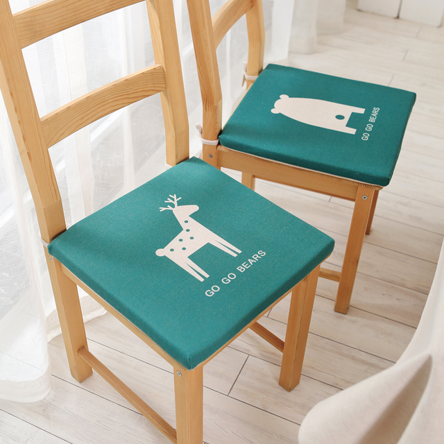 Beau 3cm Thin Spring And Summer Square Yoga Mat Cartoon Chair Cushion Office  Stool Dining Computer Desk