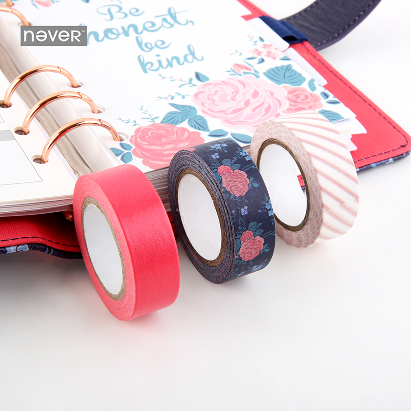 NEVER Korean washi paper tape Diary Notebook decorative sticker masking tape vintage stationery office & school supplies 3 pcs 8 pcs lot funny sticker cute bear penguin cat decorative adhesive for diary letter scrapbook school supplies stationery