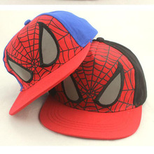 2016 New Fashion Children Cartoon Spider Baseball Snapback Adjustable Sports Hats children, suitable for 5-8 years