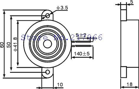 Arima factory direct electronic active piezoelectric buzzer STD-4218 12V buzzer alarm sound