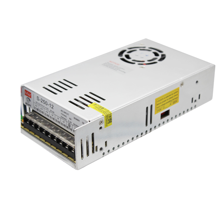 Switching Mode Power Supply S-250W-12V 20A Industrial Control Change Direct Output DC Monitor LED Camera s 250 12 12v 20a 250w switching power supply silver