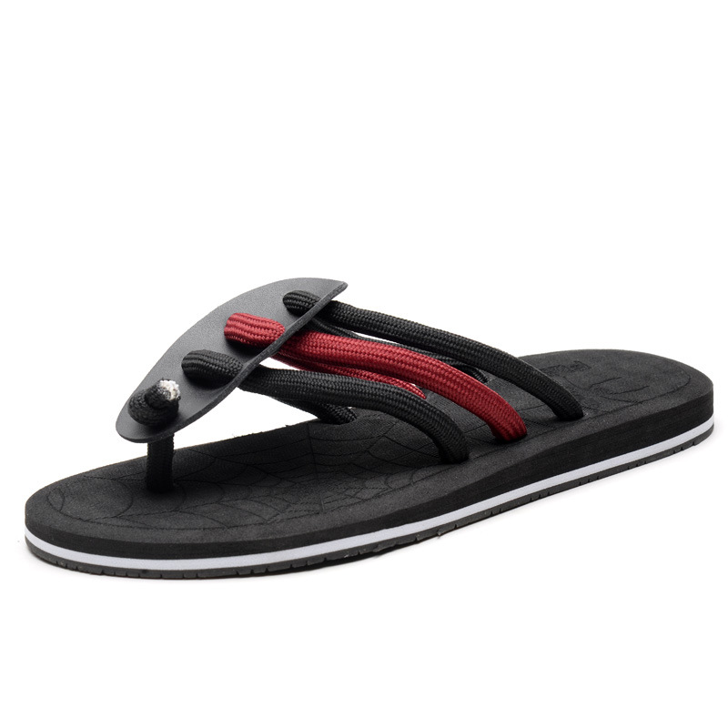 Summer new flip flops men's slippers tide drag Europe and the United - Men's Shoes - Photo 2