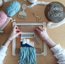 Wooden multifunctional Weaving Loom DIY Knitting Loom hand Weaver Knitting Toys Sewing Accessories  Embroidery Hoop weaving loom dreams kids girl diy knitting wool machine woodlens penguin educational learn toys gift child playset hand crank