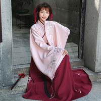 Summer Hanfu National Costume Ancient Chinese Cosplay Costume Embroidery Slim Women Hanfu Clothes Lady Chinese Stage Dress