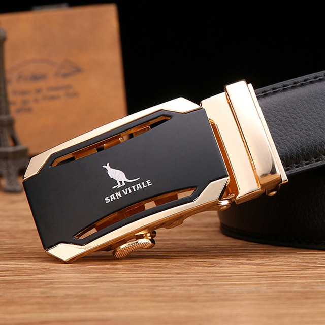 Men's Designer Automatic Buckle Belt