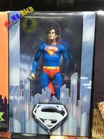 "Neca Dc Comics Superman Christopher Reeves Superhero 7"" Action Pvc Figure Ib"