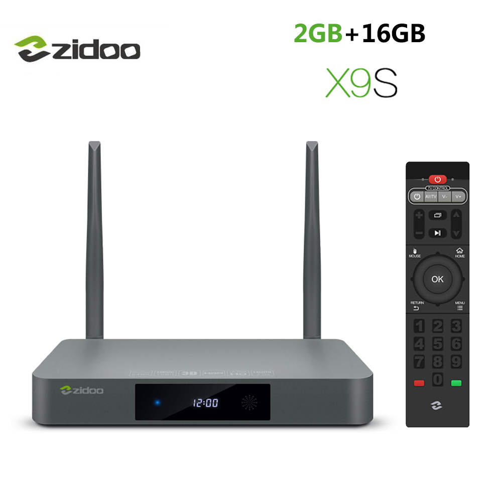 Zidoo X9S Android 6.0 + Boîtier Smart TV NAS Realtek RTD1295 2 Go 16 Go Bluetooth 4.0 USB 3.0 SATA 3.0 Dolby DTS-HD Media Player