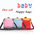 2014 New arrival candy colors fashion Mummy bags waterproof messager bags leisure softness nappy bags diaper bags free shipping