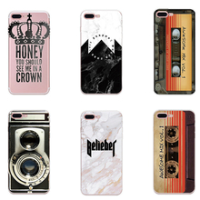 Фотография Fashion TPU Phone case Classical Patterns Soft Transparent Painted Back Cover Capa For iPhone 5/5S/SE 6 6s Plus 7 Plus 8 Plus