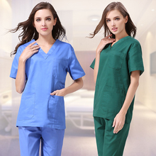 Short sleeves medical uniforms scrubs isolation medical clothes doctor scrubs suit women scrubs medical uniforms