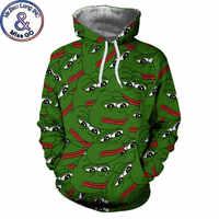 Pepe La Grenouille sweater à capuche imprimé Hommes Femmes 3D Sweats Capuches Hommes Harajuku Hip Hop Pull À Capuche Sweat Homme Moletom