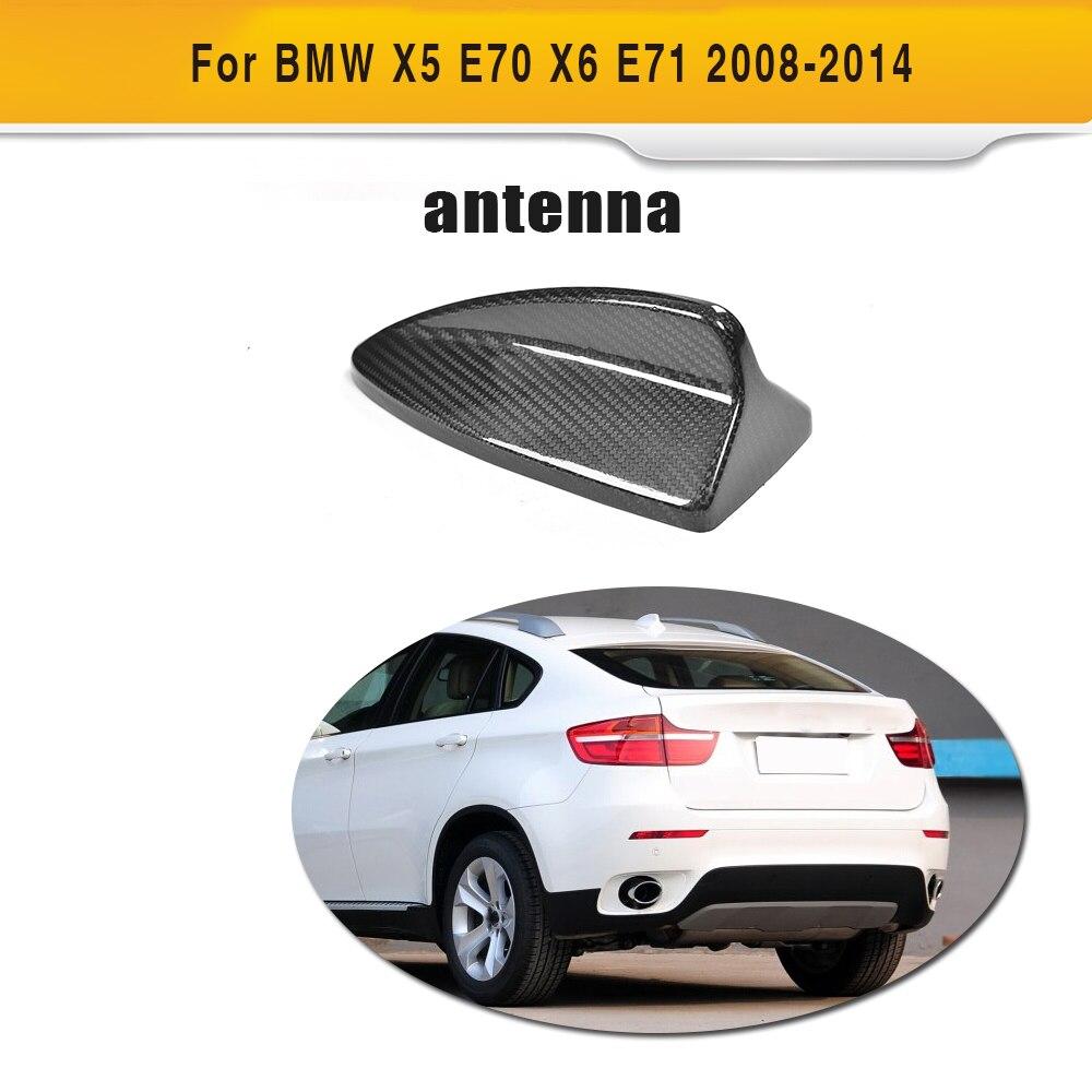 Carbon Fiber Car Roof Shark Fin Decoration Antenna Exterior Trim for BMW E70 X5 E71 X6 2008 2014 Car Styling