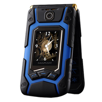 Flip Double Dual Screen Dual Speaker Dual SIM Card 16800mAh Long Standby FM Mobile Phone For