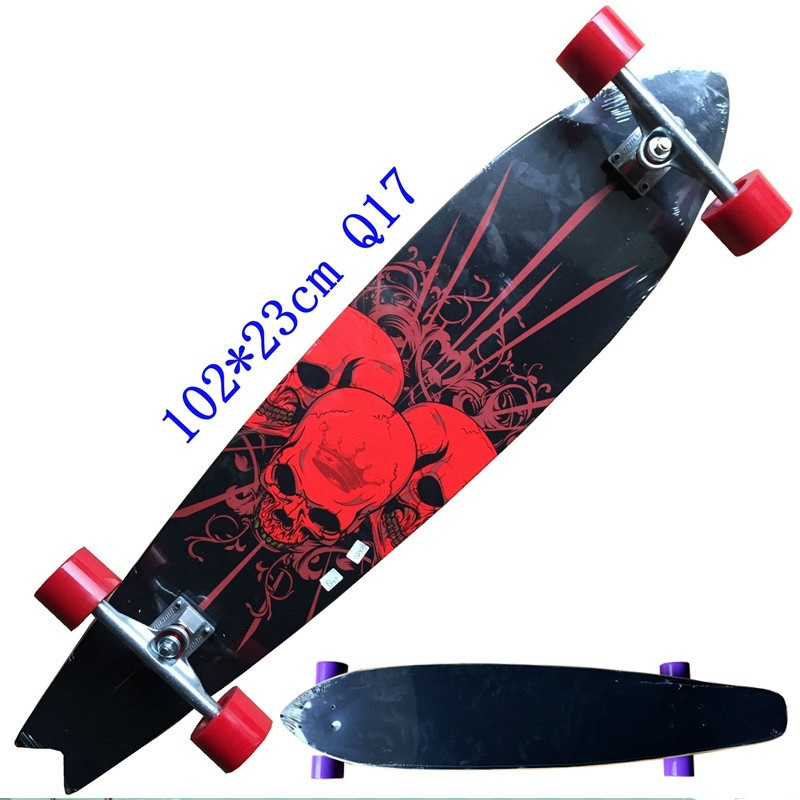 New Style Longboard Complete 117cm 110cm 107cm 93cm Surfboard Old School Cruiser Single Kick Skateboard Complete