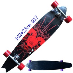 Nuovo Stile Longboard Completo di 117 centimetri 110 centimetri 107 centimetri 93 centimetri Tavola Da Surf Old School Cruiser singolo kick Skateboard Completo