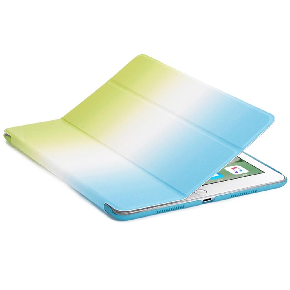 for ipad mini 2 case,dowswin rainbow gradient for mini 3 pu smart cover magnet wake up sleep pc back for ipad mini 1 2 3 case